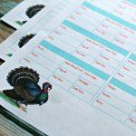 Thanksgiving Prep Printables