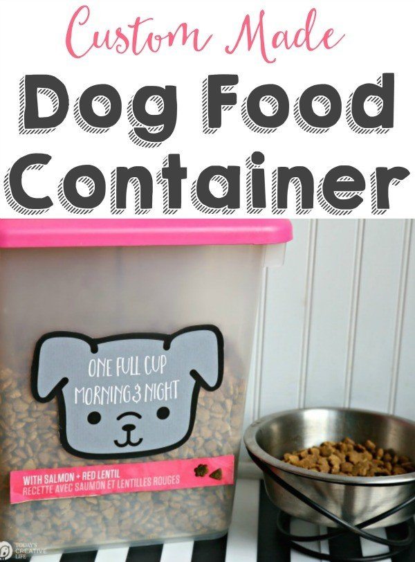 DIY Dog Food Container | TodaysCreativeLife.com
