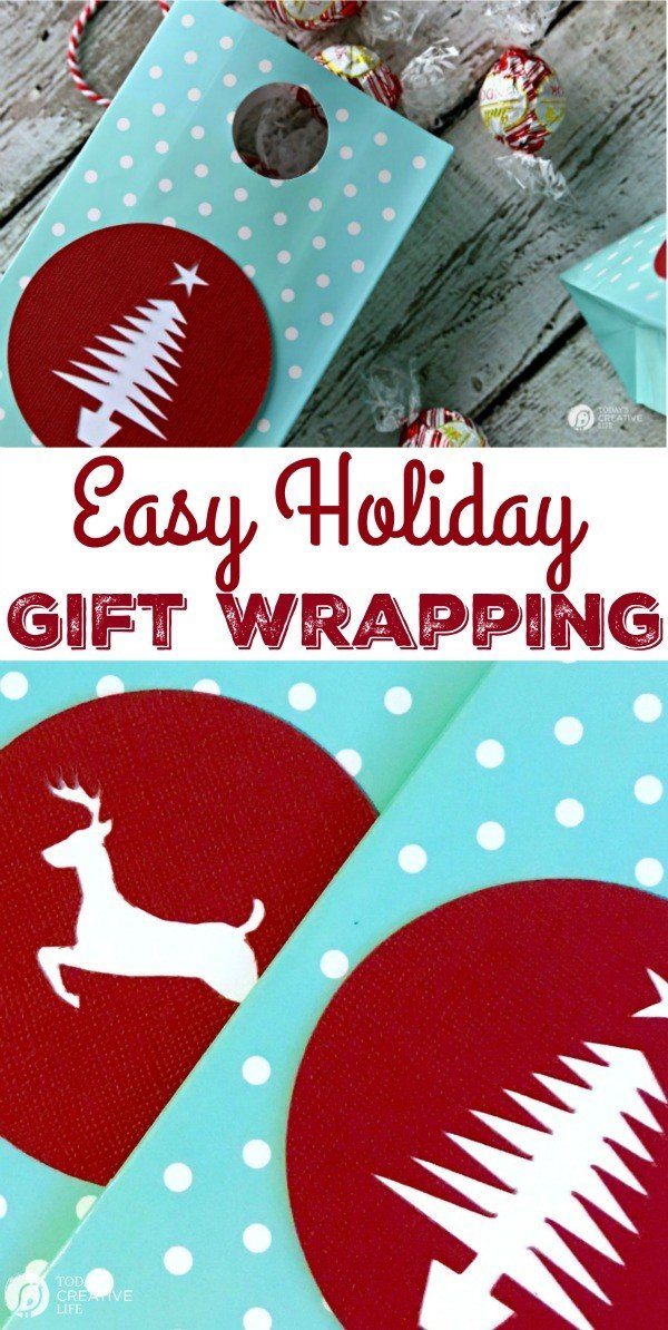 Easy holiday Gift Wrap with Cricut | TodaysCreativeLife.com