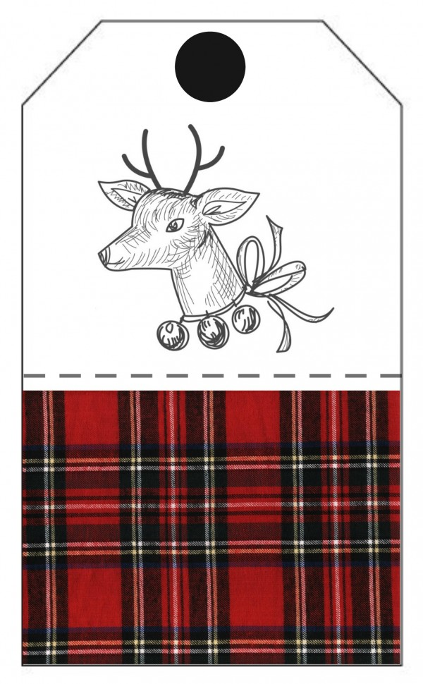 gift tags red plaid deer | Printable Holiday Gift Tags and Stickers | Get your free download for these adorable plaid gift tags for Christmas. Make gift wrapping easier with free label stickers and tags. See more on TodaysCreativeLife.com