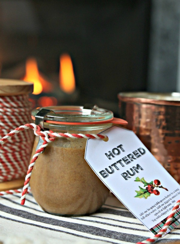 Hot Buttered Rum Recipe with Free Printable Tag | TodaysCreativeLife.com