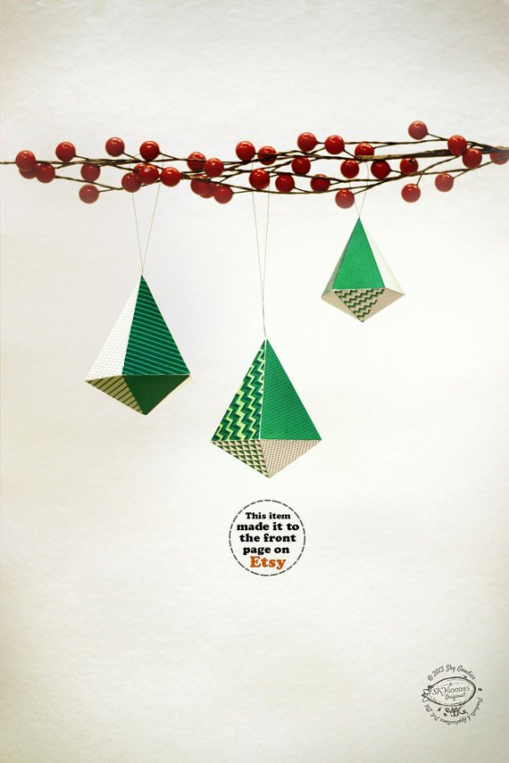 green white printable christmas ornaments