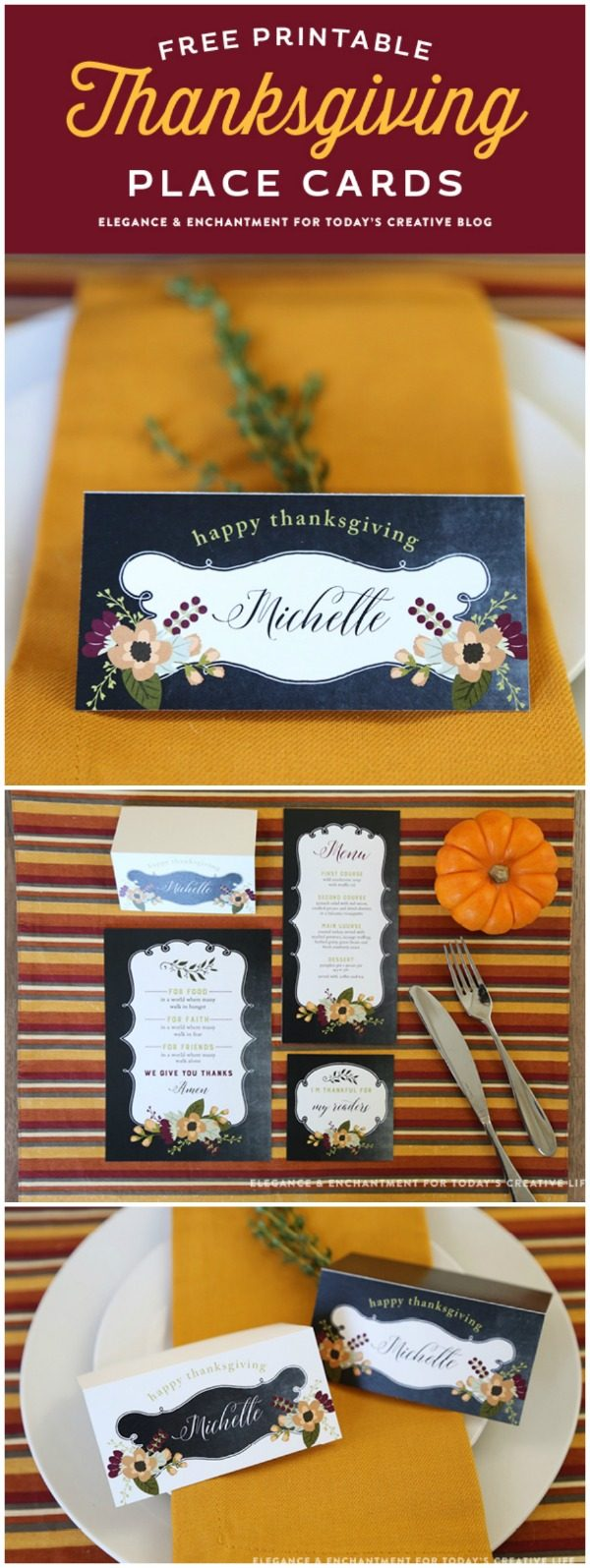 image about Free Printable Name Cards called No cost Printable Thanksgiving Destination Playing cards Todays Artistic Lifetime