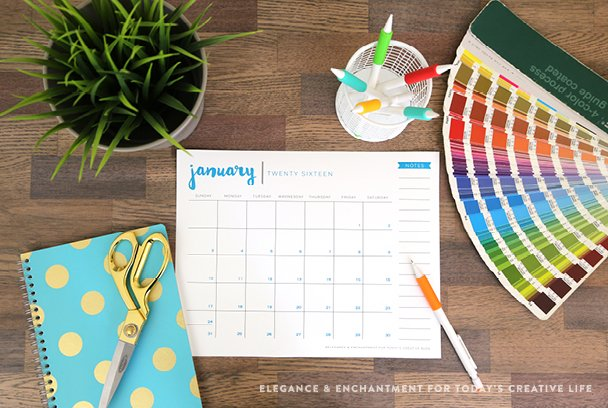 Modren Printable Desk Calendar On Ideas