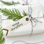 DIY Holiday Gift Tags for a beautiful wrapped holiday package. TodaysCreativeLife.com