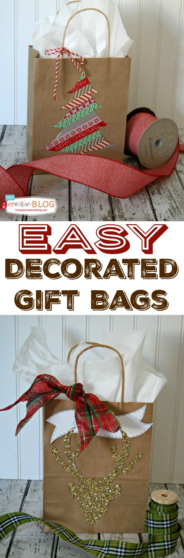 Easy Diy Gift Wrap Quick And Holiday Wring Using Bags Glitter
