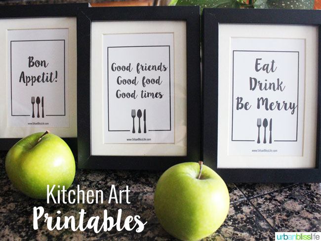 Free Kitchen Printables | These free printables make decorating your kitchen easy! Printable wall decor gives you so many options. Designed by UrbanBlissLife | TodaysCreativeLife.com