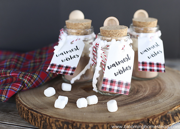 Mini Hot Cocoa Jars Gift Idea by Blooming Homestead for the Creative Girls Holiday Soiree on Today's Creative Life. See more ideas for holiday decorating, recipes, holiday diy gift ideas and more. TodaysCreativeLIfe.com