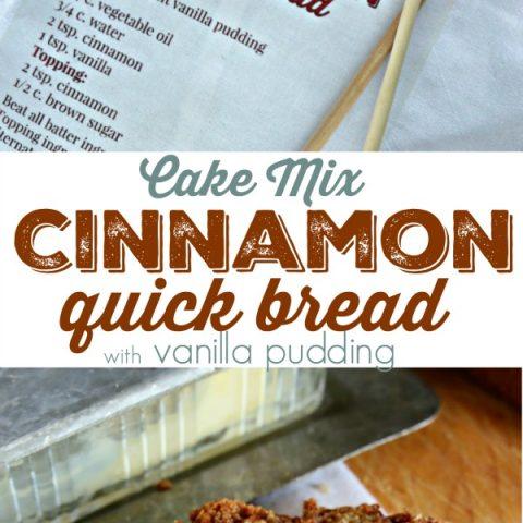 Cake Mix Cinnamon Bread