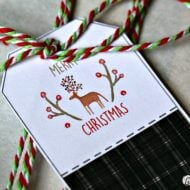 Printable Holiday Gift Tags and Stickers | Get your free download for these adorable plaid gift tags for Christmas. Make gift wrapping easier with free label stickers and tags. See more on TodaysCreativeLife.com