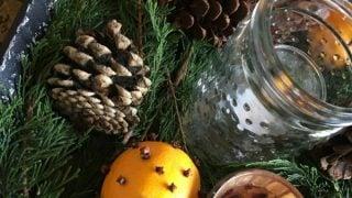 Orange Clove Natural Holiday Centerpiece