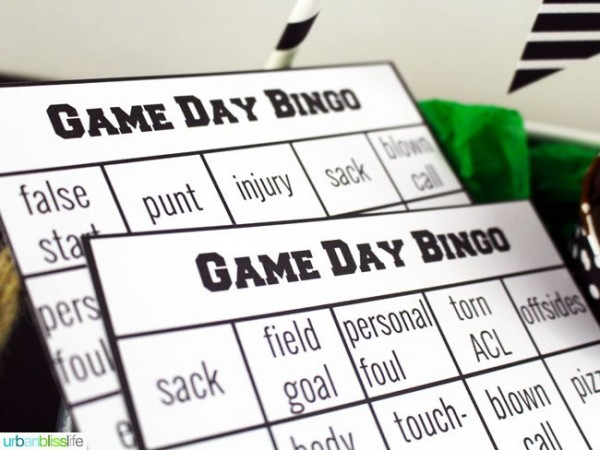 Football Bingo from UrbanBlissLife