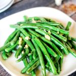 Green Bean Recipes | This Spicy Garlic Green Beans recipe will become your favorite side dish. Vegetable side dish the whole family will love. Click on the photo for the recipe.