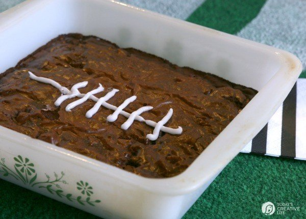 Game Day Brownies | Game Day treats are always on the menu. These brownies are simple to make with Pillsbury! See more by clicking on the photo.