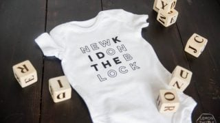 DIY Cricut Iron On Onesie {free graphic}