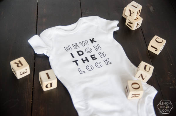 DIY Cricut Iron-On Onesie