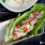Chicken Lettuce Wraps | Slow Cooker Caesar Chicken Lettuce Wraps are just one of the many meals made with this slow cooker Caesar Chicken recipe. Click on the photo for the recipe. TodaysCreativeLife.com