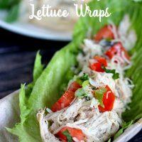 Slow Cooker Caesar Chicken Lettuce Wraps