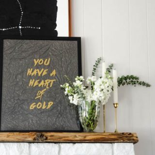 DIY Room Decor { WALL ART }   This Heart Of Gold DIY WALL ART gives your room that hint of gold with minimal effort. Use your Cricut Explore. Find the tutorial on TodaysCreativeLife.com