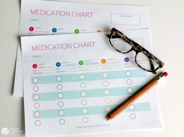 Free Printable Medication Tracker Log \ TodaysCreativeLife.com