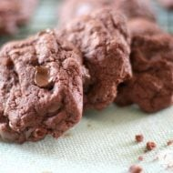 Chocolate Chocolate Chip Cake Mix Cookies