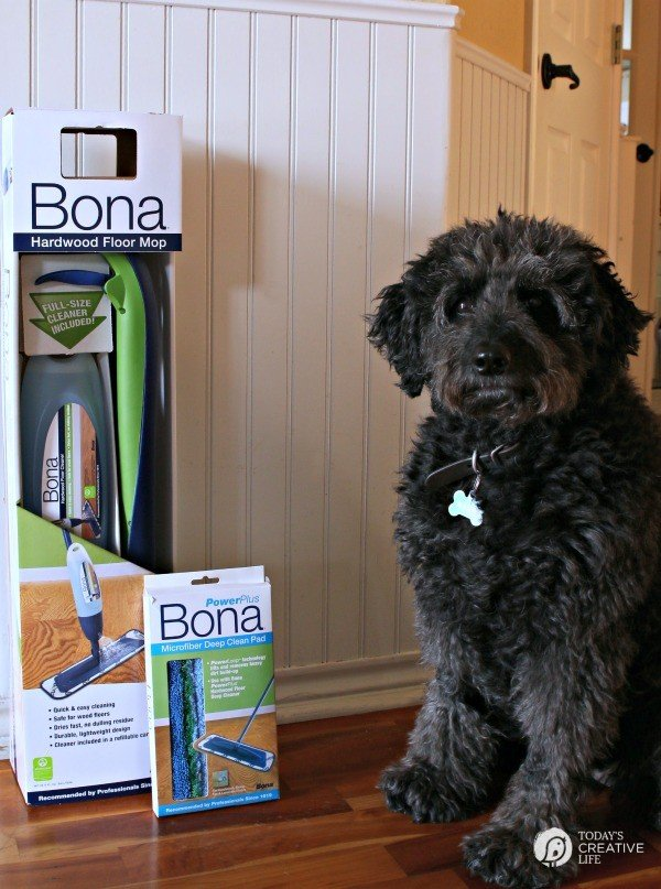 Deep Cleaning your Hardwood Floors | This deep cleaning solution from Bona uses an oxygenated process to really lift dirt and grime! See more by clicking on the photo. TodaysCreativeLife.com