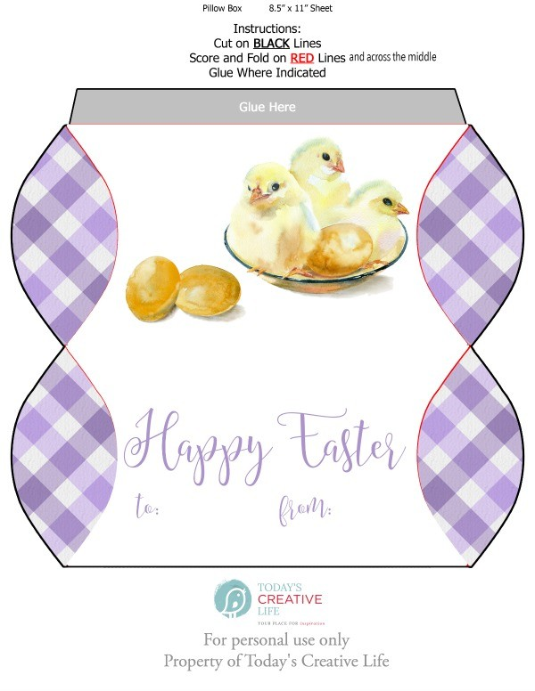 Free easter printables todays creative life free easter printables download your free easter pillow box printable template for easy easter gift negle Image collections