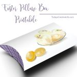 Free Easter Printables | Download your free Easter Pillow Box Printable Template for easy Easter gift giving! These are great for Easter baskets or just simple gift. Click the photo to download your own. TodaysCreativeLife.com