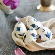 Easter Egg Designs {Blue & White Porcelain Inspired} | Create this simple look by decoupaging your own eggs. Click on the photo for this free download. Easter crafts and ideas just got grew up! TodaysCreativeLife.com