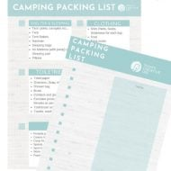 Free Printable Camping Packing List | Checklist for camping essentials | What do you need to go camping? Free Printable on TodaysCreativeLife.com