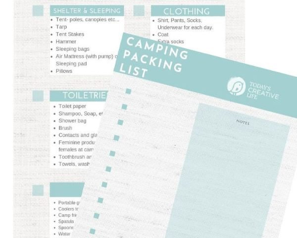 Summer Camping Packing List