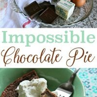 Impossible Chocolate Pie