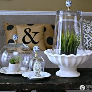 DIY Cloche Jars | Make your own Cloche Jars for diy decorating. Click on the photo for the tutorial and supply list. TodaysCreativeLIfe.com