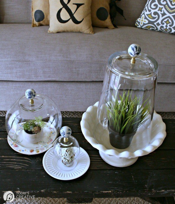 DIY Cloche Jars   Make your own Cloche Jars for diy decorating. Click on the photo for the tutorial and supply list. TodaysCreativeLIfe.com