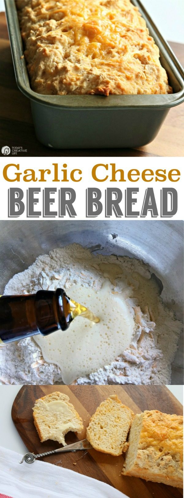 Beer Bread Recipe With Garlic And Cheese This Garlic Cheese Beer Bread Is Delicious