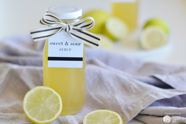 Homemade Lemon Syrup & Printable Gift Tags