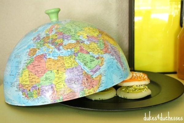 world globe cloche project