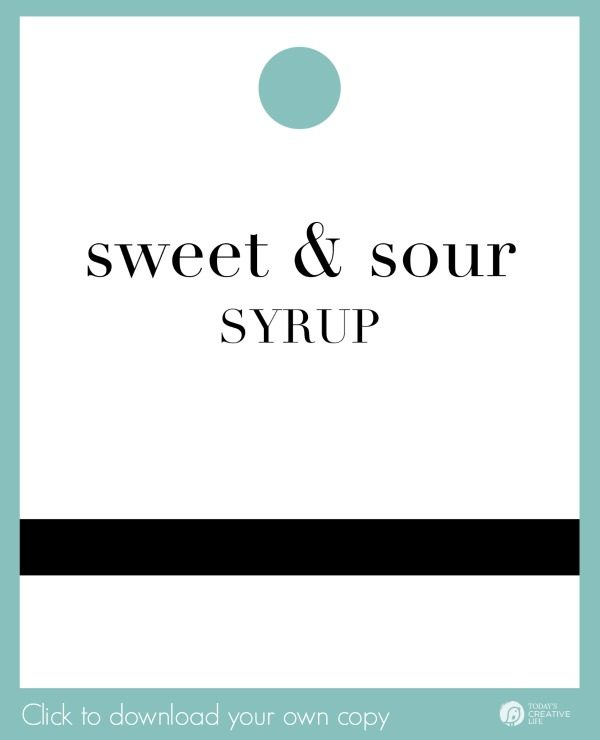 Lemon Syrup Gift Tag Download
