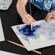 Art Projects for Kids | Create water color wall art made by your children. Use your Cricut machine or not for a fun craft idea for kids. See more on TodaysCreativeLife.com