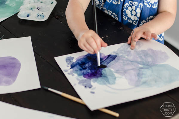water color art projects for kids