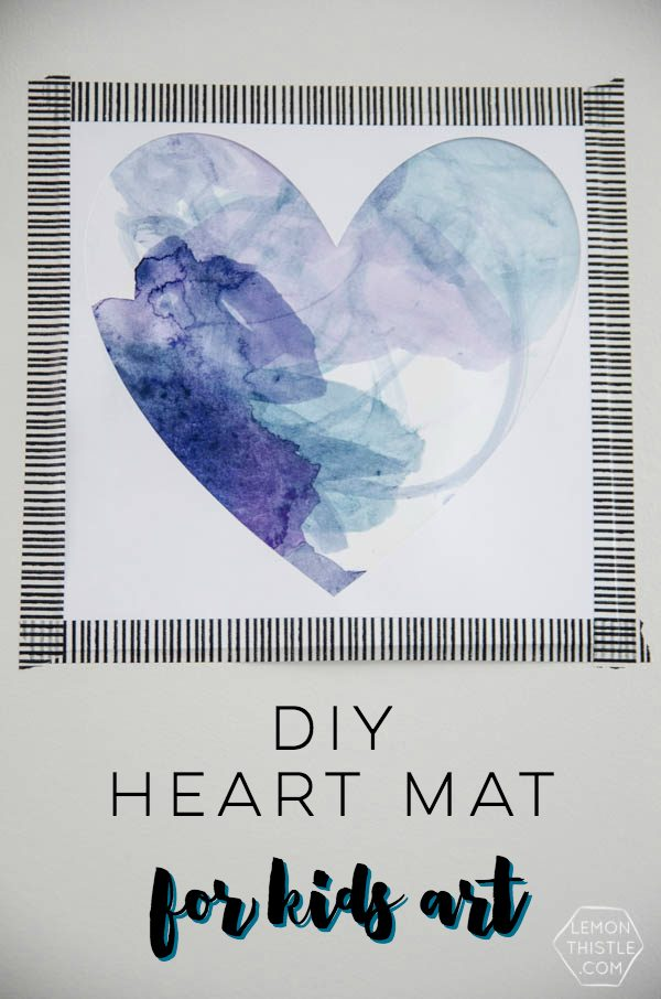 DIY Heart Mat - Art project for kids