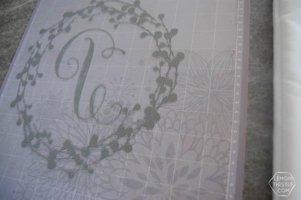 DIY Monogram Pillow  Create diy decor using your Cricut Explore and heat transfer Iron On Flocked Vinyl. Sounds complicated, but it's not. Follow the tutorial on TodaysCreativelife.com