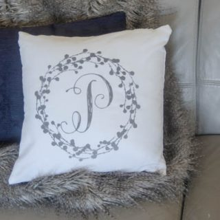 DIY Monogram Pillow Tutorial Create diy decor using your Cricut Explore and heat transfer Iron On Flocked Vinyl. Sounds complicated, but it's not. Follow the tutorial on TodaysCreativelife.com