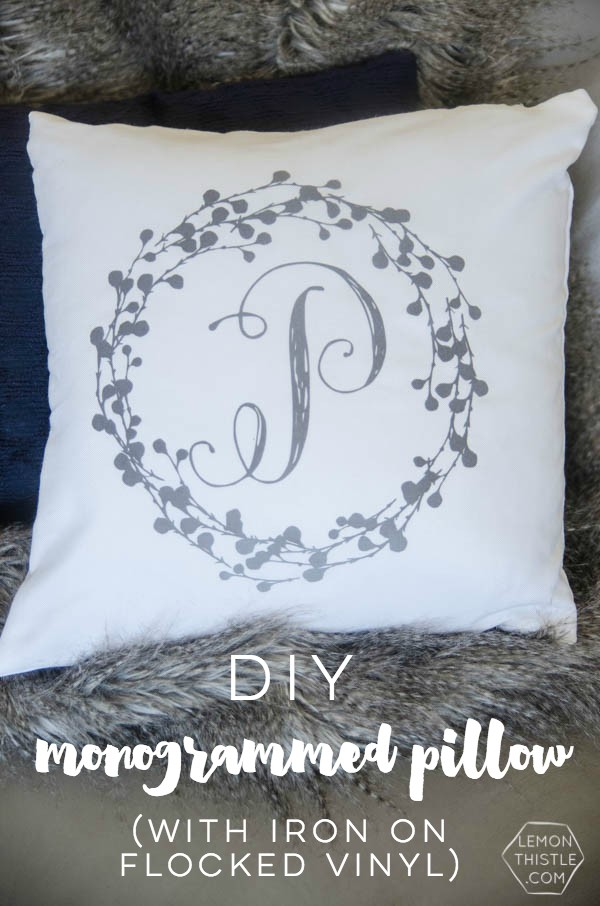 Diy Monogram Pillow Tutorial Today S Creative Life