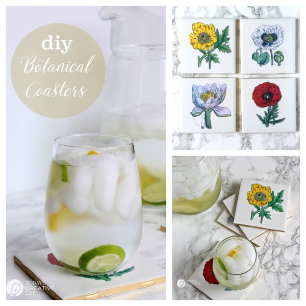 diy botanical coasters | todayscreativelife.com