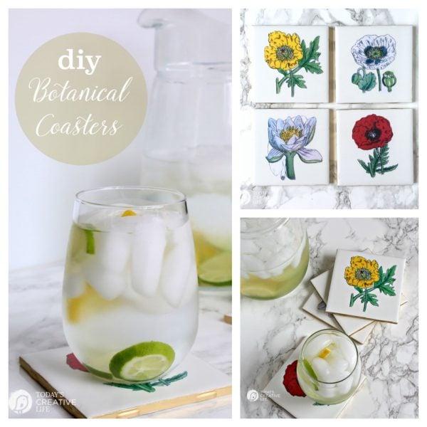 diy botanical coasters | todayscreativelife.com