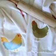Iron On Chicken Tea Towels