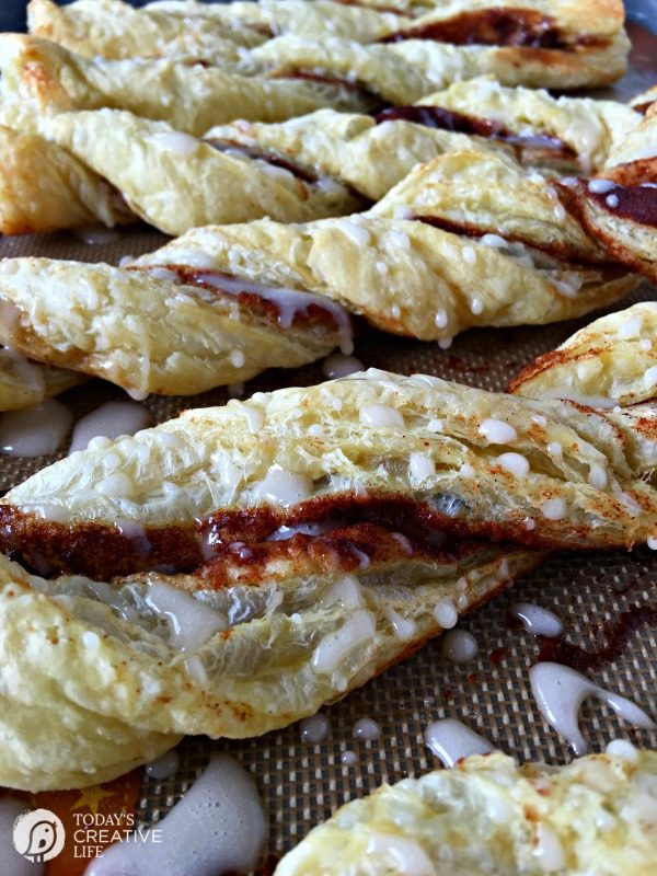 Puff Pastry Cinnamon Twists | The magic of puff pastry makes you feel like a real baker! Whip up a batch of these Cinnamon Twists for a quick snack or breakfast. See the recipe on TodaysCreativeLife.com