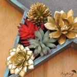DIY Patriotic Door Decor | Make your own door decor with faux succulents. TodaysCreativeLife
