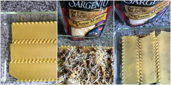 Mexican Lasagna Recipe | Add this easy Mexican dish to your weekly menu and meal plan. Some call it Taco Lasagna, but they always call it delicious! Find the recipe by clicking on the photo. TodaysCreativeLife.com